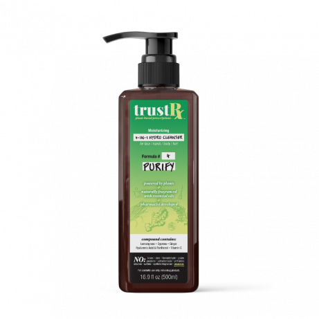 TrustRx 4-in1 Cleanser PUMP PURIFY FRONT